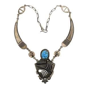 Danny Clark Kingman Turquoise Contemporary Necklace