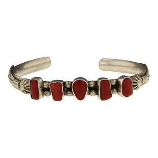 Vintage Pawn Freeform Coral Bracelet