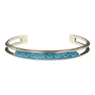 Turquoise Chanel Inlay Bracelet