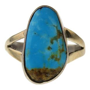 Sonoran Turquoise Navajo Ring