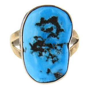 Vintage Sleeping Beauty Nugget Turquoise Ring