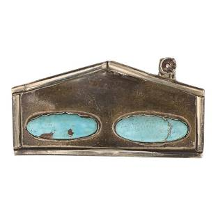 Vintage Turquoise Home pin