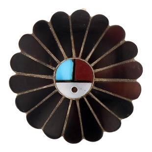 Vintage Sun face Pin