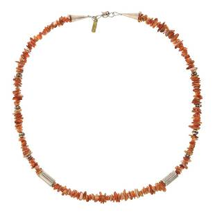 T&R Singer Spiny Oyster Necklace