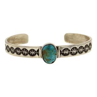 Herbert Cayatineto Nevada Turquoise Cuff Bracelet