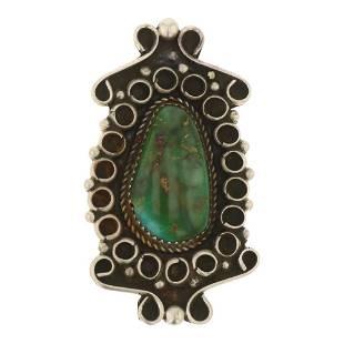 Vintage Pawn Royston Turquoise Pin