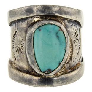 Vintage Pawn Turquoise Ring
