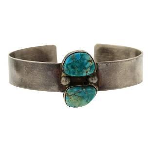 Old Pawn Nevada Turquoise Cuff Bracelet