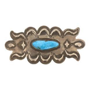 Julian Chavez Turquoise Bump Out Pin
