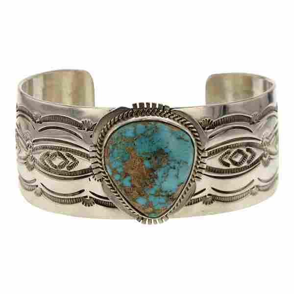 John Nelson Pilot Mountain Turquoise Cuff Bracelet