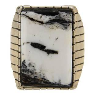 White Buffalo Men's Ring