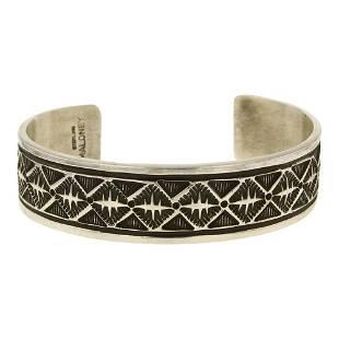 Freddy Maloney Plain Silver Cuff Bracelet
