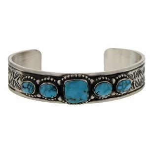 Deborah Smith Kingman Turquoise Cuff Bracelet