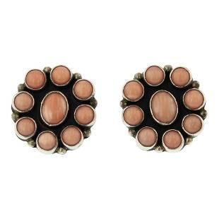 Nakai Pink Coral Earrings