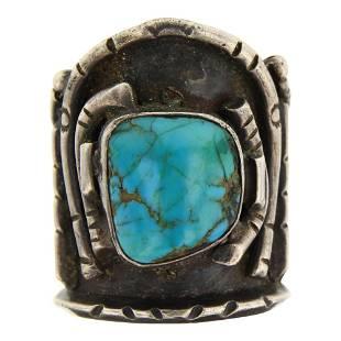 Vintage Pawn Nevada Turquoise Ring