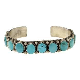 Vintage Pawn Turquoise Row Cuff Bracelet
