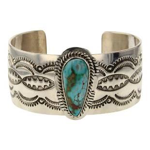 John Nelson High Grade Royston Turquoise Cuff Bracelet