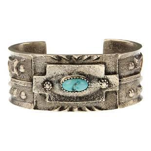 Turquoise Tufa Cast Cuff Bracelet