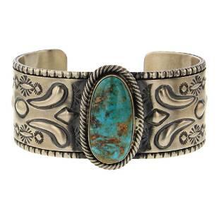 Jeff James Jr. Nevada Turquoise Cuff Bracelet
