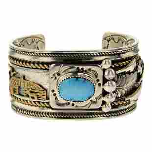 Turquoise 12K Gold Filled & Sterling Silver Story