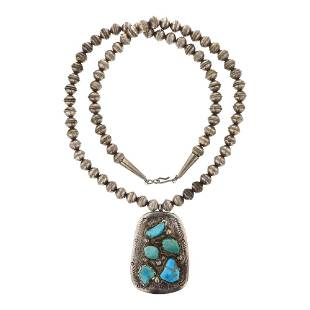 Vintage Kingman Turquoise Bench Beads Necklace