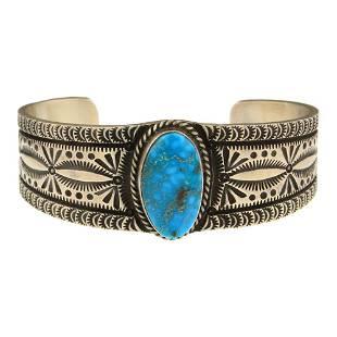 Herman Smith Turquoise Cuff Bracelet