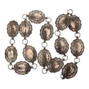 Vintage Plain Silver Link Concho Belt