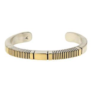 Johnathan Nez 14K Gold & Sterling Silver Heavy Wire