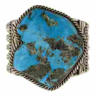 Vintage Freeform Nevada Turquoise Bracelet