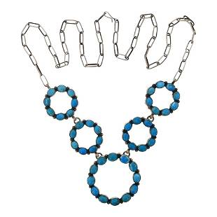 Tricia Smith Hoop Turquoise Necklace