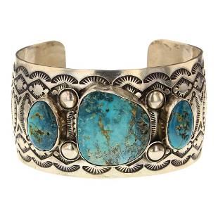 Nevada Turquoise Cuff Bracelet