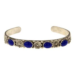 Vintage Lapis Bracelet