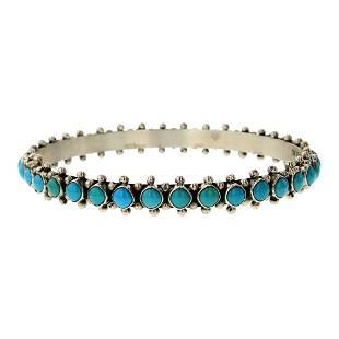 Paul Livingston Kingman Turquoise Bangle Bracelet