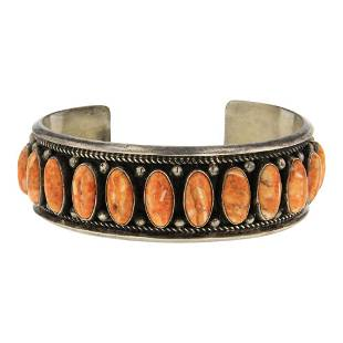 Emerson Brown Spiny Oyster Row Cuff Bracelet