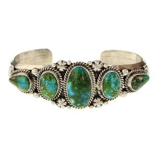 Tyler Brown Sonoran Gold Turquoise Cuff Bracelet