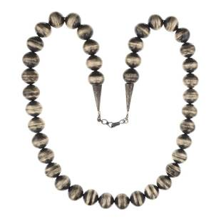 Vintage Pawn Bench Beads Necklace