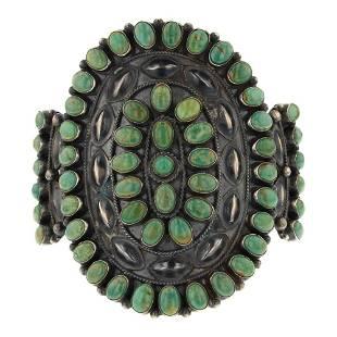 Anthony Skeets Fox Turquoise Cluster Bracelet