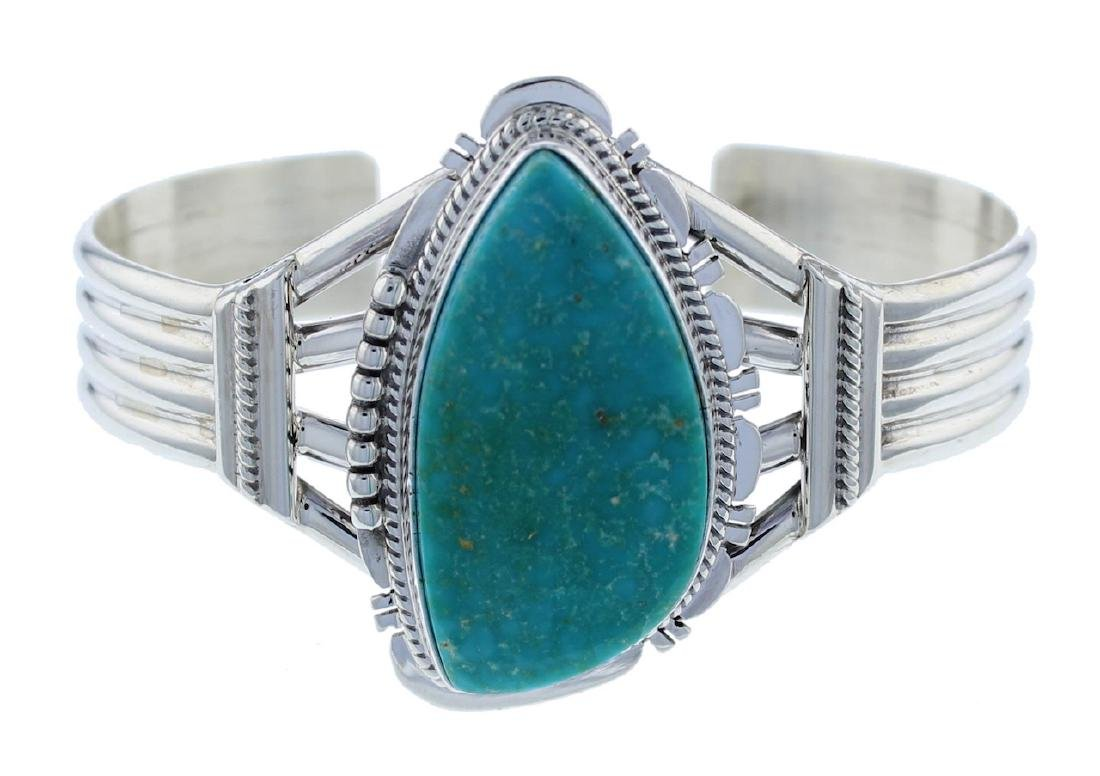 Sterling Silver Turquoise Bracelet Navajo Native Americ