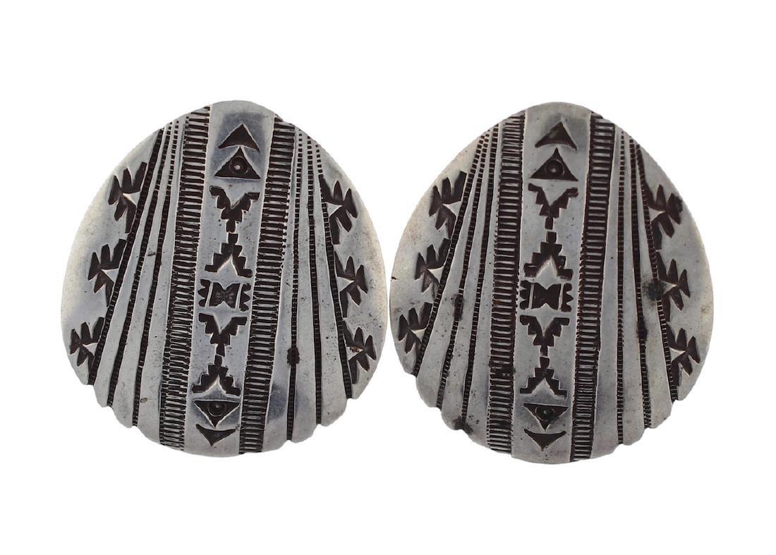 Sterling Silver Earrings Navajo Native American