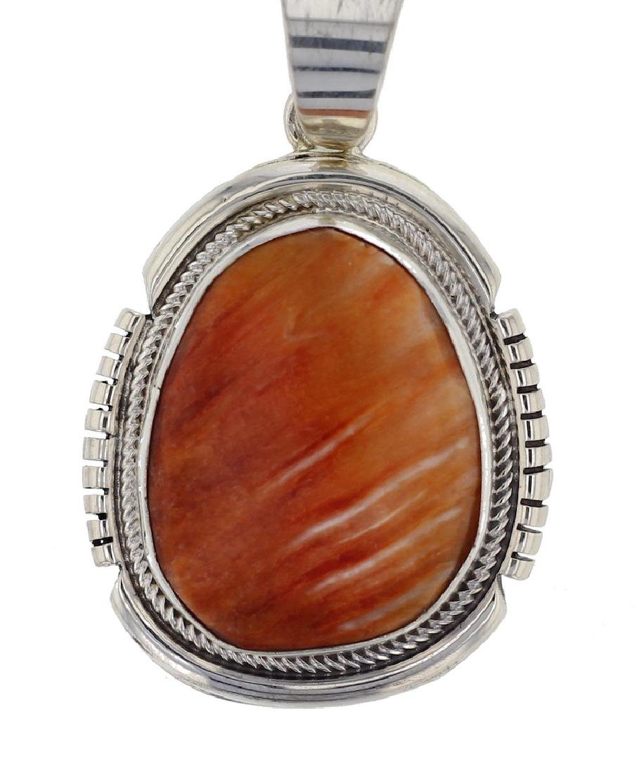 Sterling Silver  Spiny Oyster Shell Pendant Navajo
