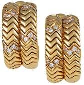 BULGARI Diamond Spiga Earrings