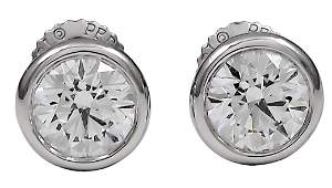 Tiffany & Co. Peretti Diamond Stud Earrings