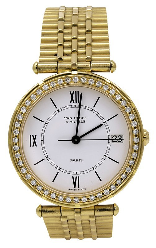 Van Cleef and Arpels Gold and Diamond Lady's Wristwatch