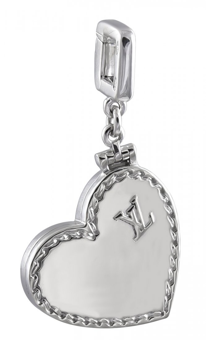 Louis Vuitton Paris Gold Love Heart Charm