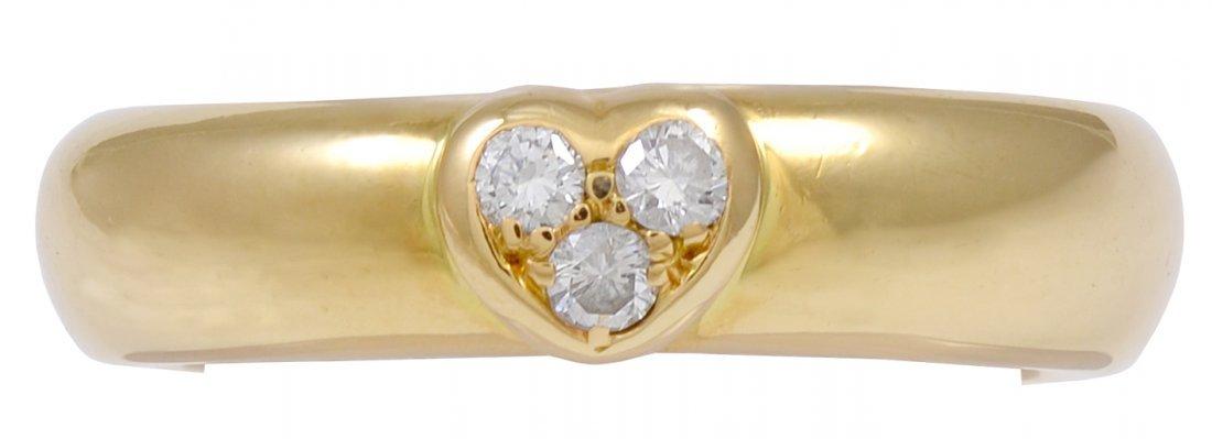 Tiffany&Co Ring with Diamond Heart