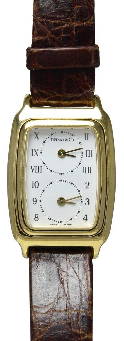 Tiffany & Co. Lady's Yellow Gold Dual Time Zone Quartz