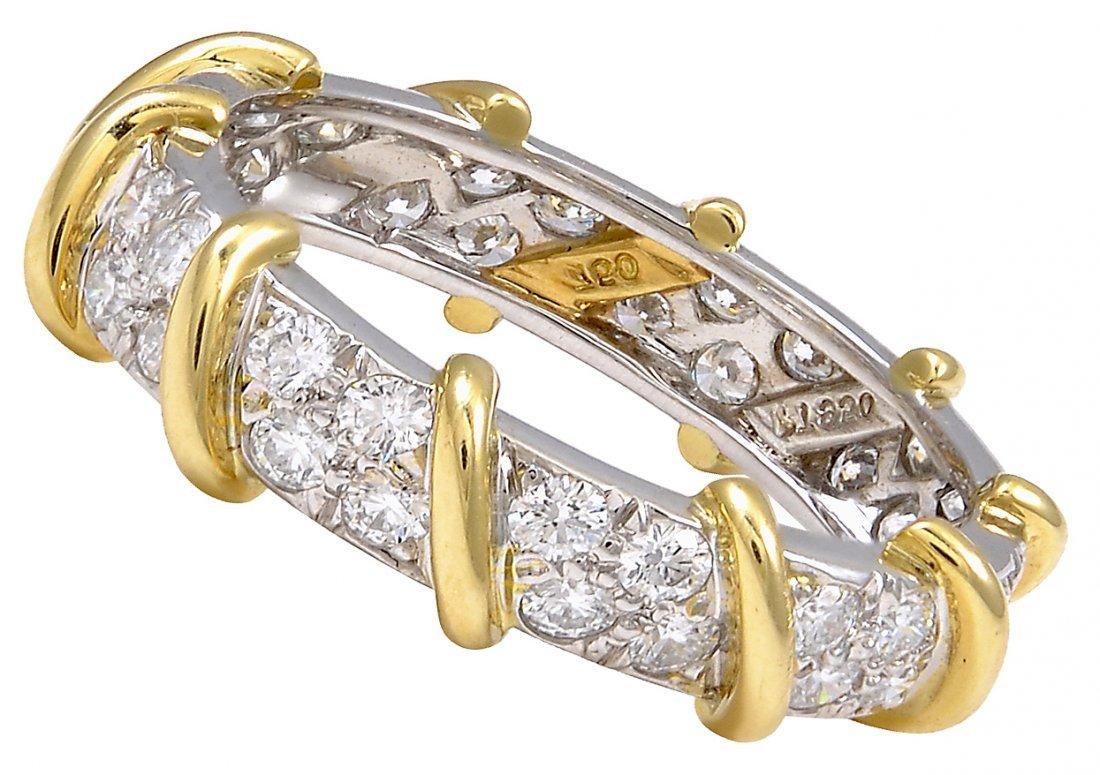 Tiffany& Co Diamond Platinum Ring