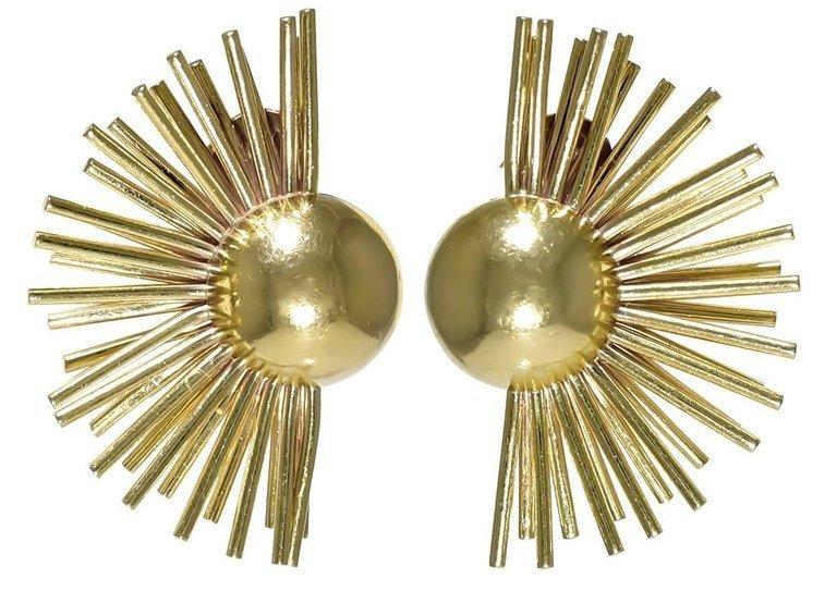 A pair of 14k Gold Sunrise Ear Clips