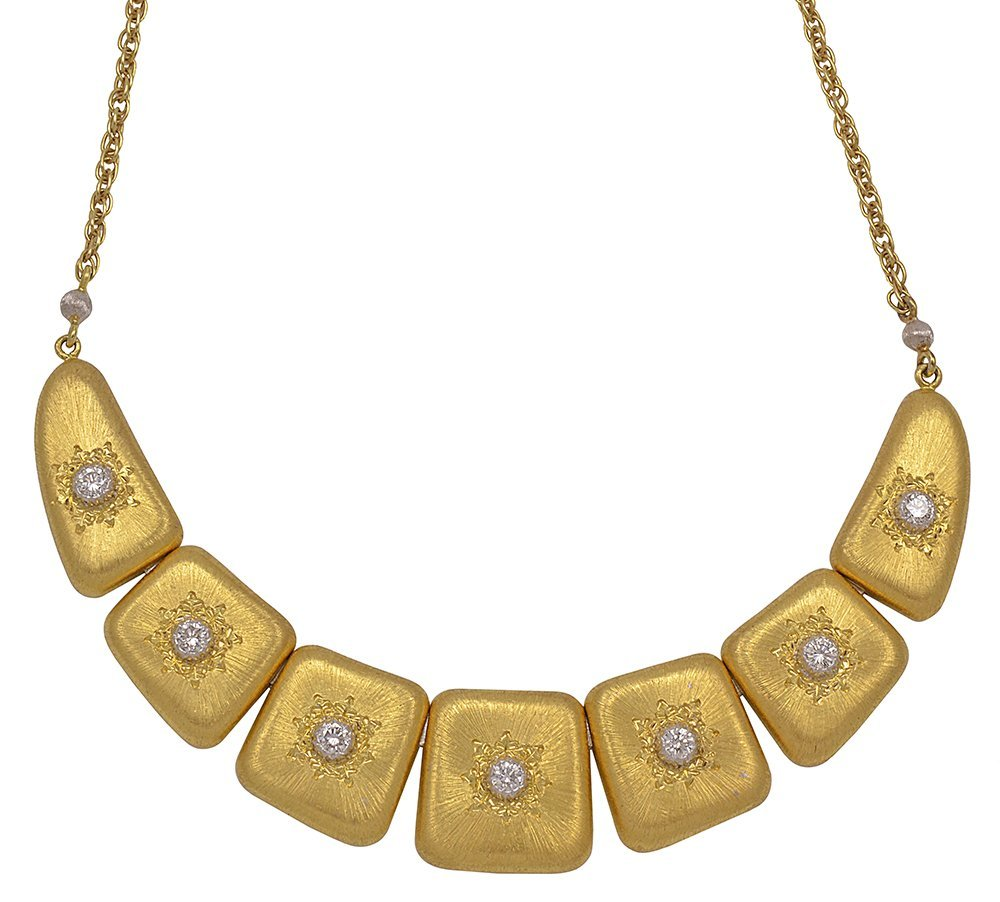 Buccellati Diamond and Gold Necklace