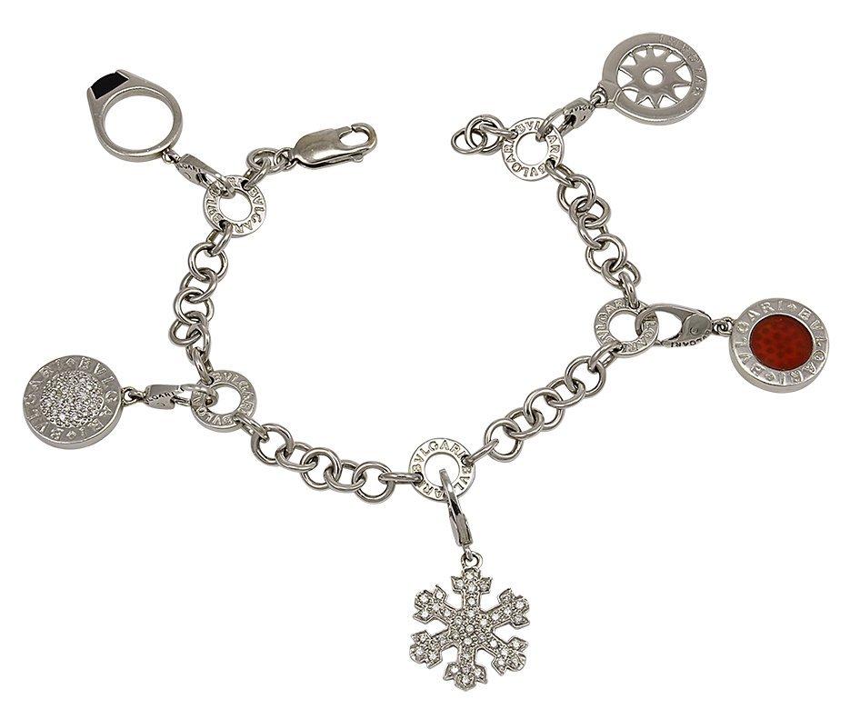 Bulgari Gold Charm Bracelet